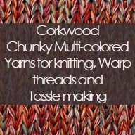 Corkwood Chunky Multi-coloured Chunky Cotton-Linen yarn multiple untwisted ply's