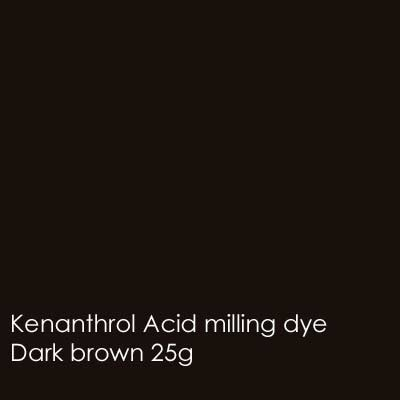 Dark brown kenanthrol acid milling dye shade 25g