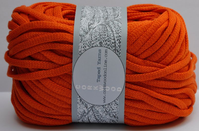 Orange Cotton Chunky Tape Yarn For Knitting Weaving And
